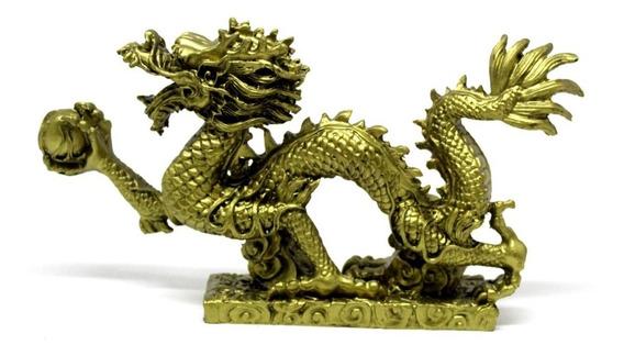 Dragão Japonês Chines Oriental Decoração Resina Enfeite H8