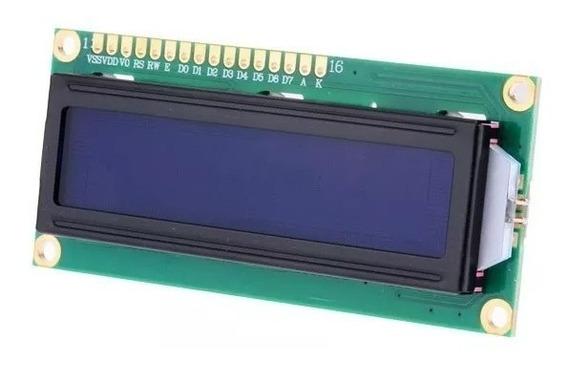 20 X Display Lcd 16x2 1602 Backlight Azul Escrita Branca