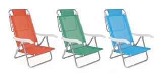 Cadeira Alta Reclinável De Alumínio Mor Summer Fashion 2115