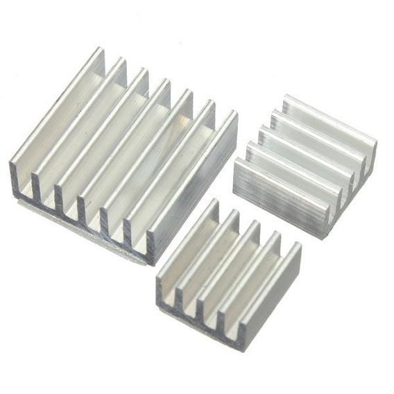 (kit 25 Cj) 3x Dissipador Alumínio Para Raspberry Pi2 Pi3