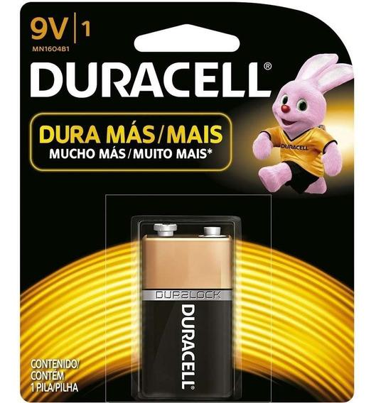 Kit 5 Bateria 9v Duracell Para Microfone Controle Rádio