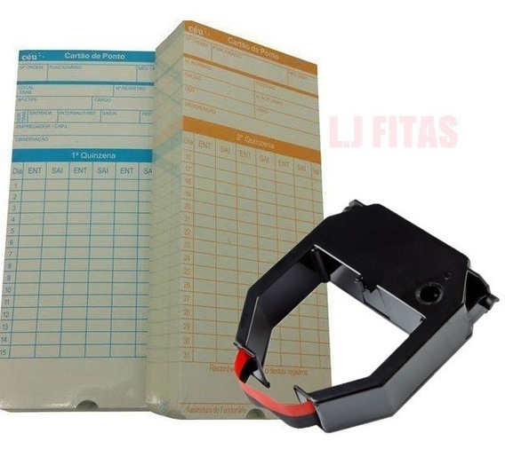 Kit 2 Fitas Dataprint + 200 Cartões De Ponto