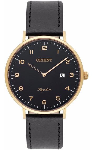 Relógio Orient Masculino Slim Mgscs004 P2px Couro Safira