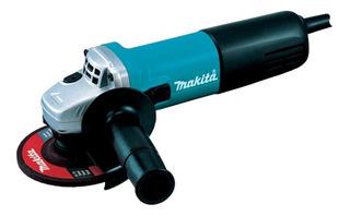 Esmerilhadeira angular Makita 9557HNG azul-turquesa 220V