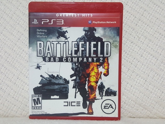 Jogo Ps3 Battlefield Bad Company 2 Greatst Hits Mídia Física