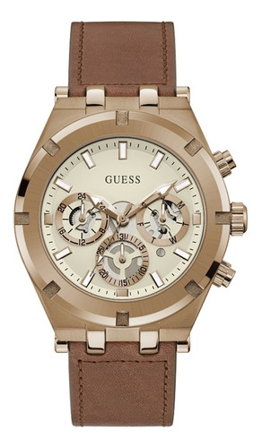 Reloj Para Hombre Guess Continental Color Café Gw0262g3