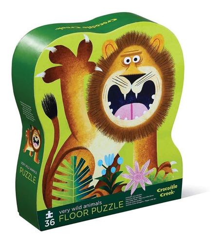 Puzzle Rompecabezas Animales Salvajes 36 Pzas Crocodile Edu