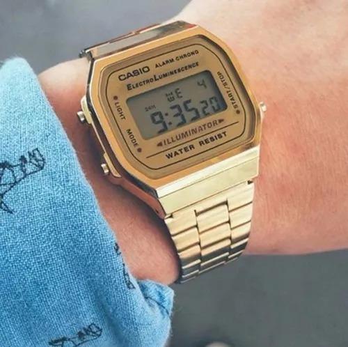 Relógio Feminino Casio Vintage Dourado Banhado Ouro Promoção