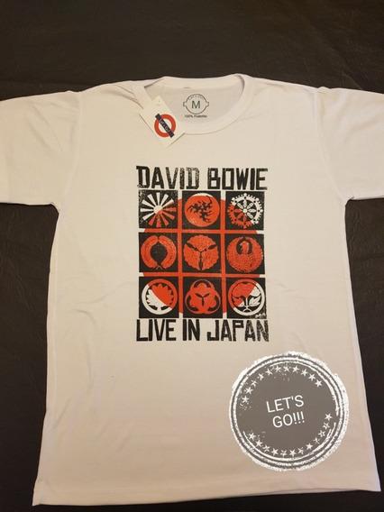 David Bowie Live In Japan Remera Manga Corta Unisex