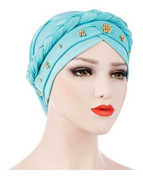Gorro Feminino Muçulmano Hijab Bohemia Lady Turbante Gorro