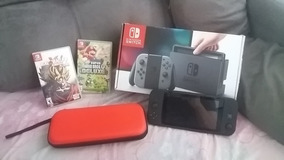 Nintendo Switch + 2 Jogos + Case E Película