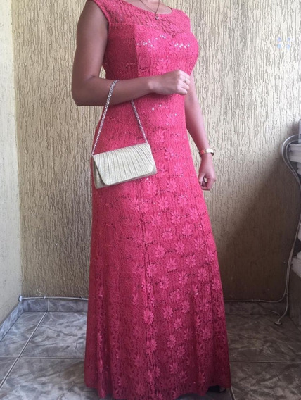Vestido Para Madrinha Longo Com Bolsa De Mão