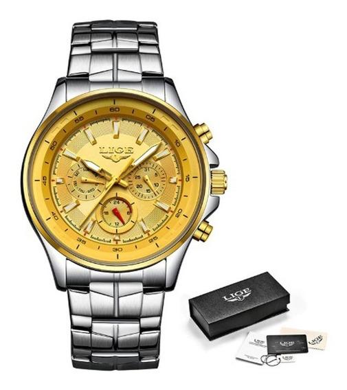 Relógio Lige Masculino 9814 De Luxo Casual Original