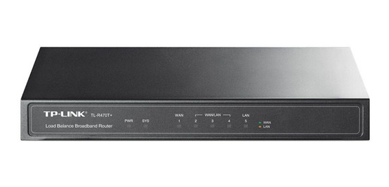 Router TP-Link TL-R470T+ negro 110V/220V 1 unidad