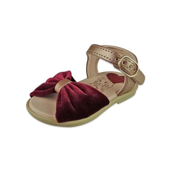 Sandália Baby Princesas - Bordô