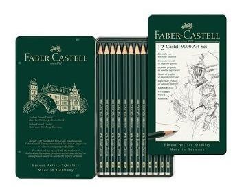 Faber-castell Lapiz Grafito Castell 9000 Set X 12 Unidades