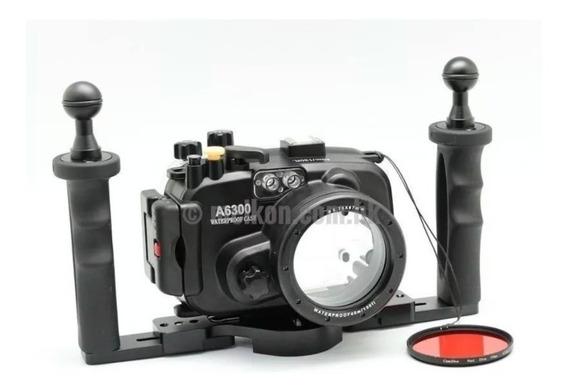 Caixa Esquante Aquática Para Cameras Sony A6300/a6400/a6500