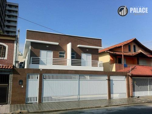 Imagem 1 de 21 de Casa Com 2 Dormitórios À Venda, 66 M² Por R$ 200.000,00 - Vila Guilhermina - Praia Grande/sp - Ca0008