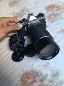 Câmera Pentax Com Lente Extra