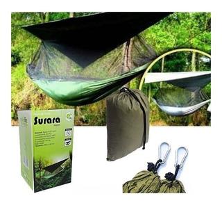 Rede De Selva Surara Com Mosquiteiro Camping Rs0003 Echolife