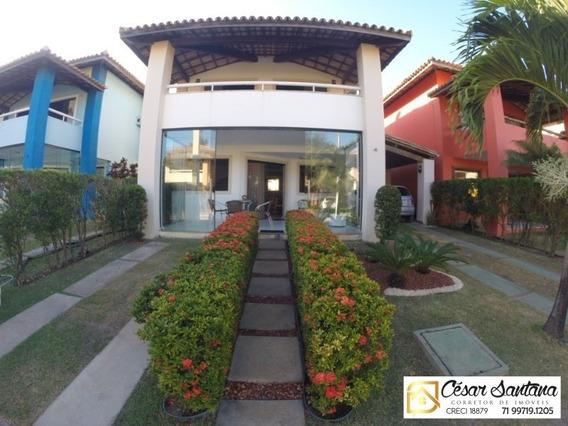 Casa 4/4 Em Condomínio Fechado Stella Maris Salvador - Ca00429 - 33590836