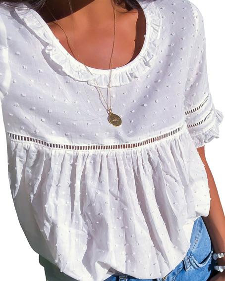 Vestidos Blusas Hippie Chic Playa Playeros | Blanco Mujer
