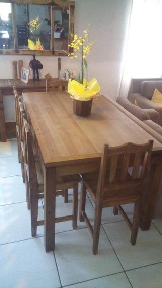 Mesa De Jantar Retangular Madeira Demolição + 4 Cadeiras