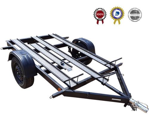 Carreta Reboque P/ 3 Motos - Para Oficina Mecânica- Zero Km