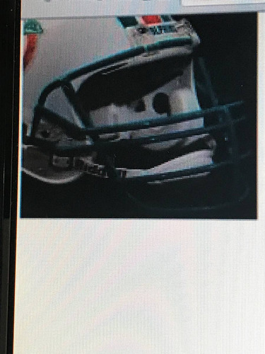 Imagem 1 de 5 de Face Do Capacete De Futebol Americano Miami Dolphins Nfl Miami Dolphins