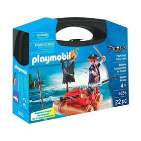 Brinquedos Para Meninos Playmobil 5655 Maleta Piratas 22 Pcs