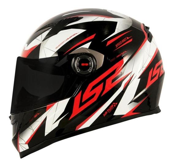 Capacete para moto integral LS2 Helmets Draze black/red tamanho L