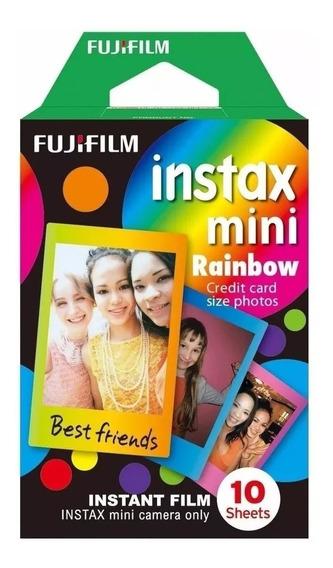 Filme Instantâneo Fujifilm Instax Mini Rainbow Com 10 Fotos