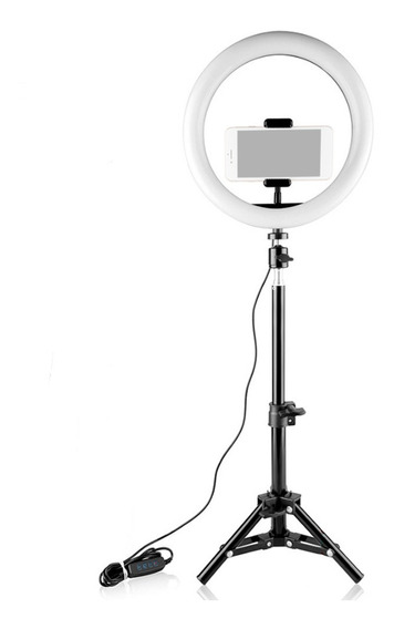 26 Cm/10 Polegadas Mini Led Video Anel Luz Lâmpada Dimmable