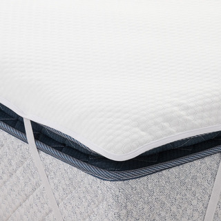 Cubrecolchón Queen Size Impermeable - Color Blanco