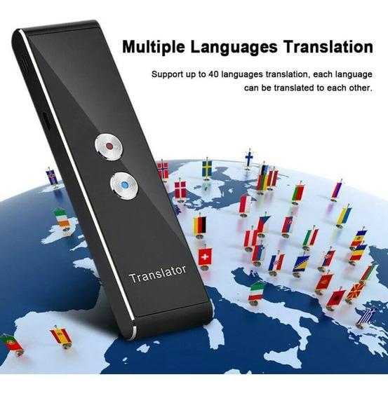 Tradutor Portatil Voz Translator Inteligente Speech 40 Idiomas