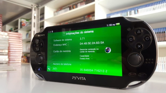 Ps Vita Preto - Original - Usado V3.71
