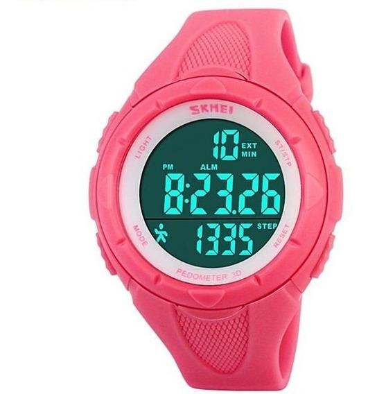Relógio Feminino Pedômetro Esportivo Digital Original Com Nf
