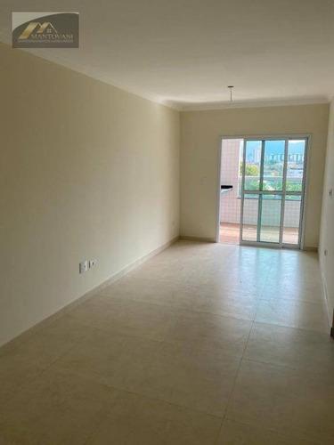 Apartamento Com 2 Dormitórios À Venda, 95 M² Por R$ 380.000,00 - Canto Do Forte - Praia Grande/sp - Ap2726