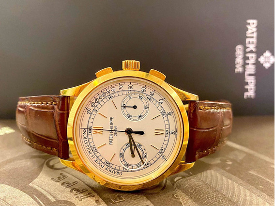 Patek Philippe Complications Chronograph De Ouro , Completo!