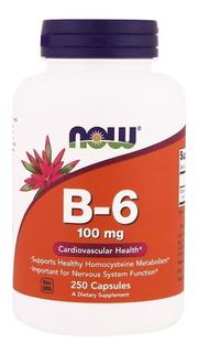 Vitamina B-6 Piridoxina Now® 100 Cáps Original Importado Eua