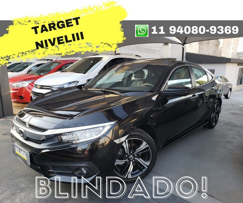 Honda Civic Touring 1.5 Turbo Cvt 2017 Blindado Top De Linha