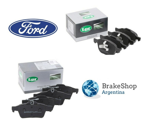 Kit 8 Pastillas De Freno Lpr Ford Focus 2 Ecosport Del Tras