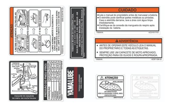 Adesivo De Advertência Rd 135 - Yamaha Rd 135 - Frete Grátis
