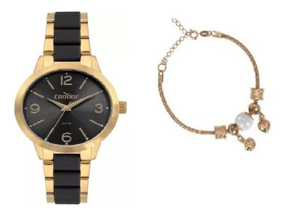 Kit Relógio Condor Feminino Co2035mrf/k5p