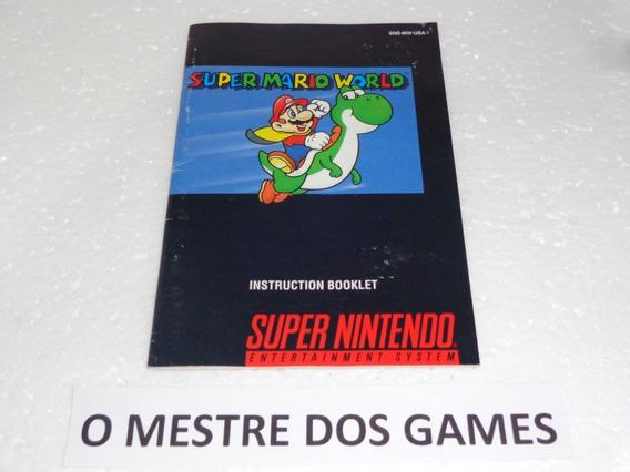 Manual Do Jogo Super Mario World Original Para Snes