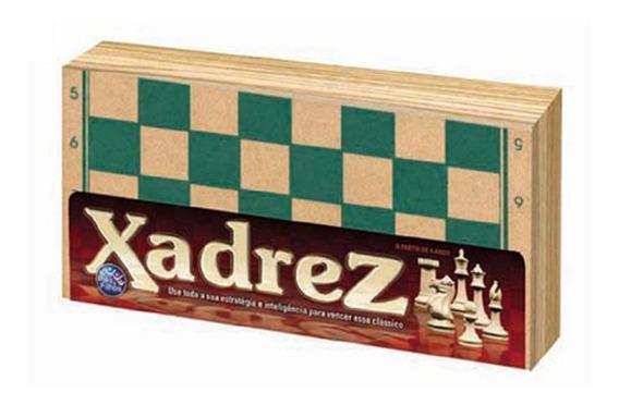 Jogo Xadrez Madeira 32 Peças Estimula Raciocínio - 33374