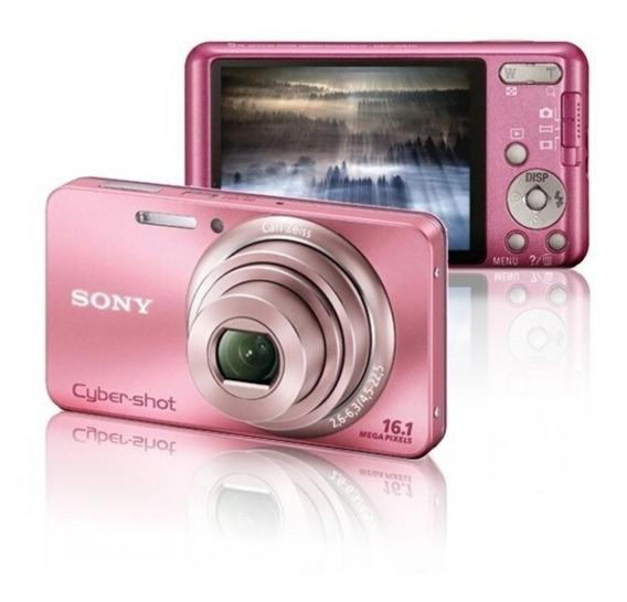 Câmera Digital Sony Cyber-shot Dsc W570 Rosa Semi-nova