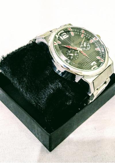 Relógio Masculino Pulseira Em Aço/inox