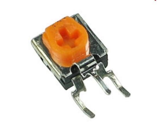 500un Mini Trimpot Vertical 100k 104 Amarelo 7831