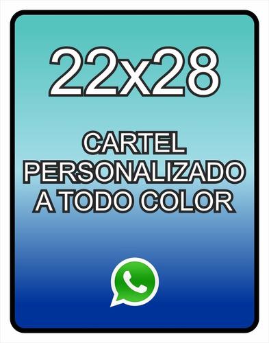 Cartel Personalizado 22x28 A Todo Color